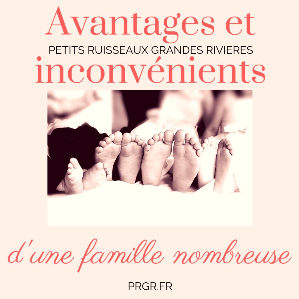 Famille nombreuse avantages et inconvénients blog maman blog famille recomposée blog les petits ruisseaux font les grandes rivieres blog PRGR http://prgr.fr