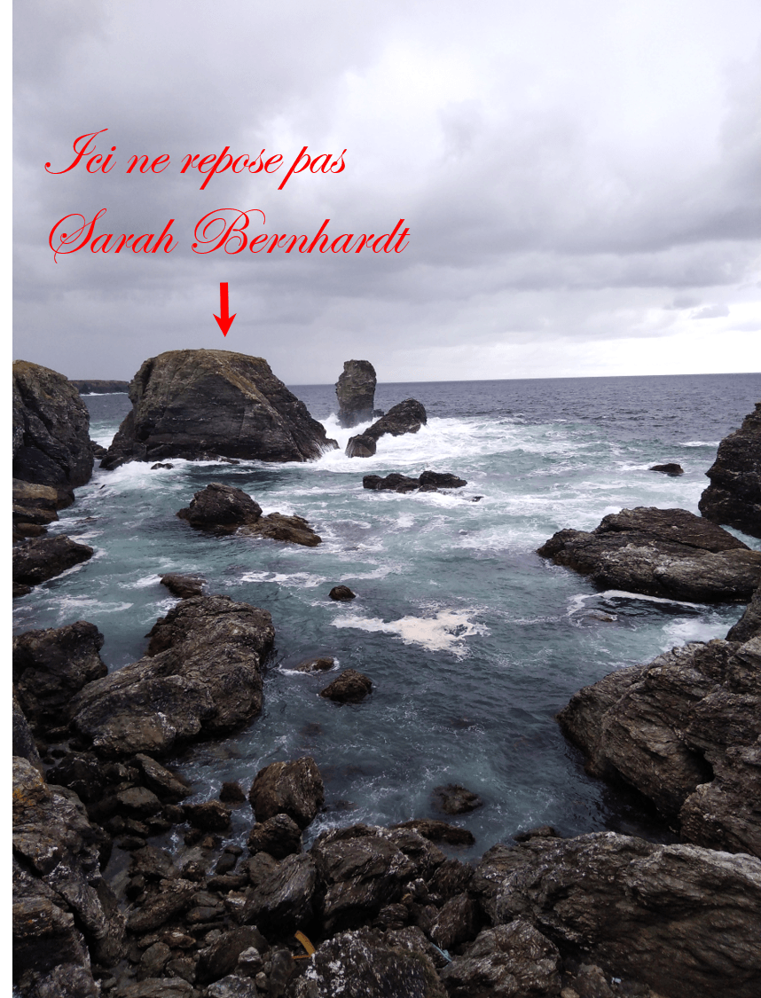 Sarah Bernhardt Pointe des Poulains Belle-île-en-Mer Bretagne week-end amoureux