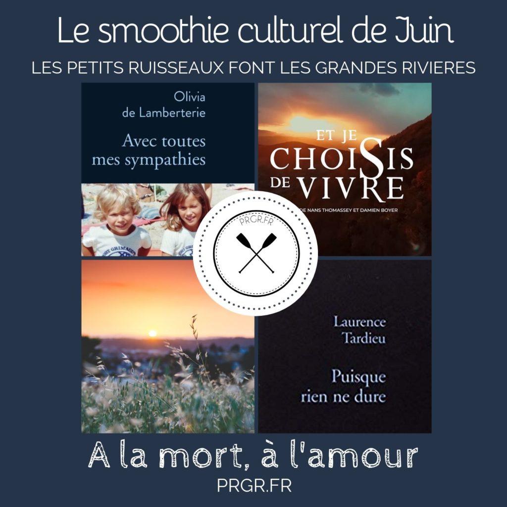 smoothie culturel à la mort à l'amour blog PRGR roman sur la mort et l'amour