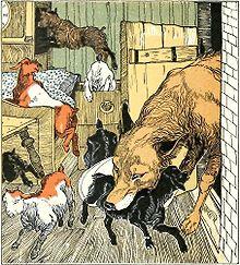 le loup et les 7 chevreaux