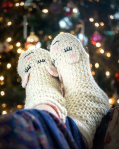 chaussettes laine Noël